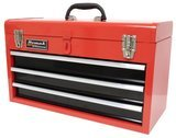 HOMAK RD01032101 3-Drawer Toolbox/Chest Red