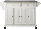 Crosley Furniture Rolling Kitchen Island with Granite Top