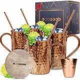 Yooreka Moscow Mule Copper Mugs Set
