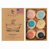Beauty by Earth Organic and Natural Bath Bombs Gift Set, 6 Count