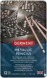 Derwent 12 Metallic Colored Pencils