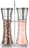 Willow & Everett Premium Stainless Steel Salt and Pepper Grinder Set