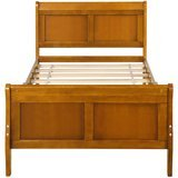 Harper and Bright Designs Wood Platform Twin Sleigh Bed