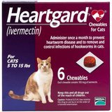 Heartgard Chewable Tablets for Cats, 5-15 lbs, 6 treatments