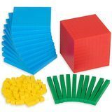 EdX Education Four-Color Plastic Base Ten Set