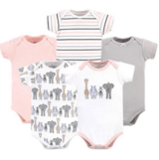 Hudson Baby Girls' Cotton Bodysuits