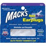 Mack's 2-Pack AquaBlock Clear Earplugs