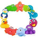 Nuby Little Squirts 10-Piece Bath Toys