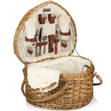 Picnic Time Heart Willow Picnic Basket with Deluxe Service For 2