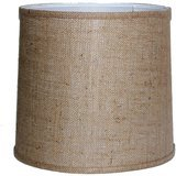 A Ray of Light Brown Burlap Drum Shade