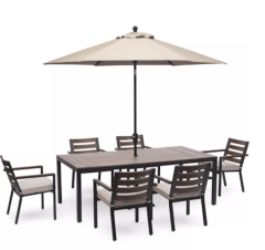 Macy's Furniture Stockholm Outdoor Aluminum 7-Pc. Dining Set